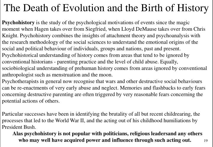 The Death of Evolution and the Birth of History