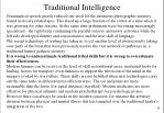 traditional intelligence