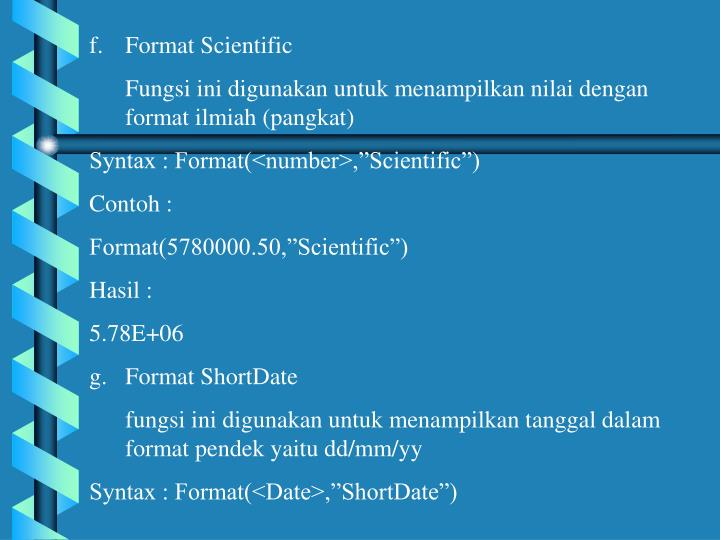 Format Scientific
