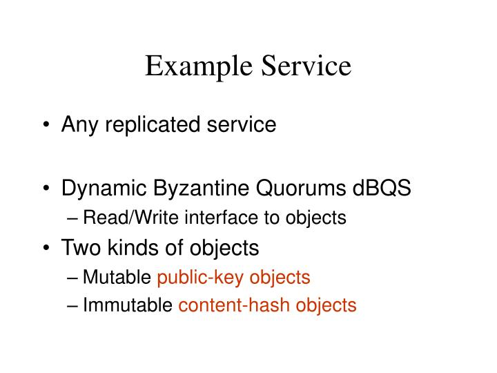 Example Service