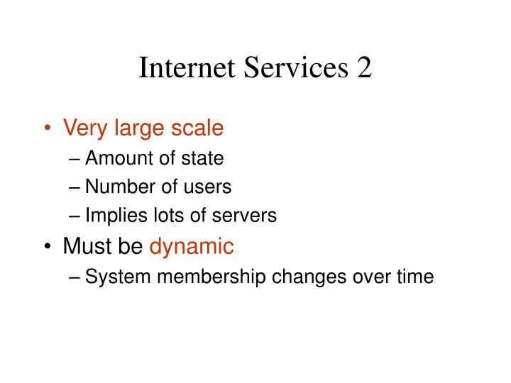 Internet Services 2