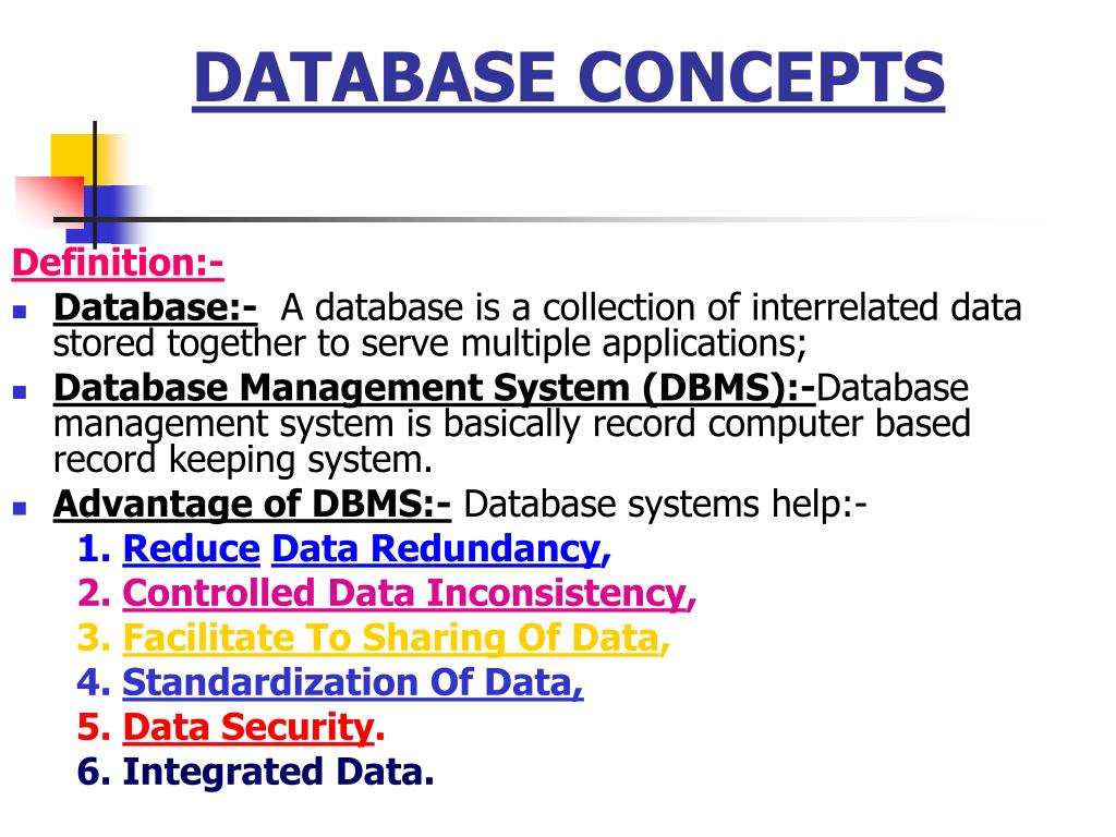 Ppt Database Concepts Powerpoint Presentation Id3714233 Security And Integrity Dbms N