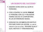 un segreto del successo