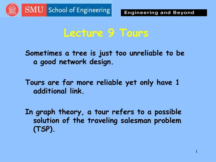 lecture 9 tours n.