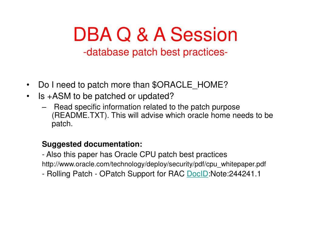 PPT - DB Questions and Answers open session PowerPoint