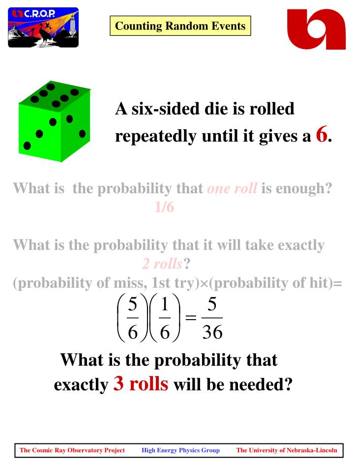 A six-sided die is rolled