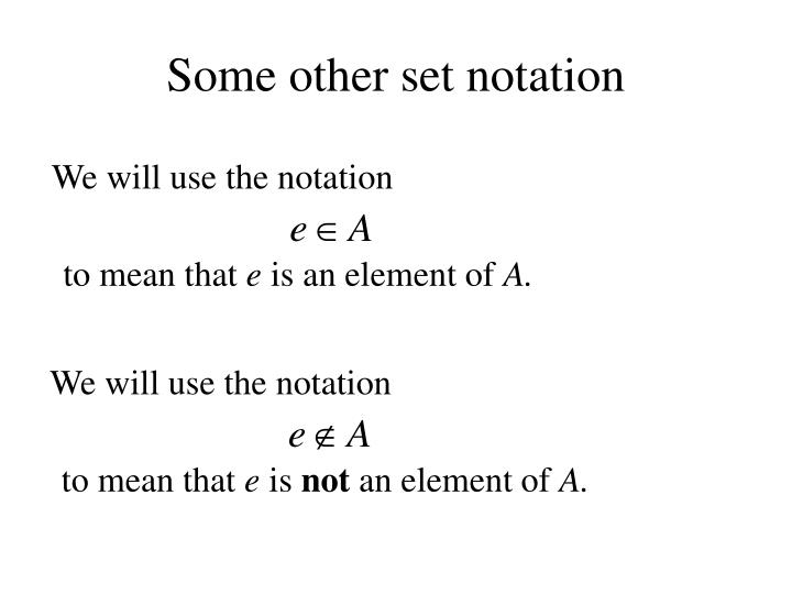 some other set notation n.