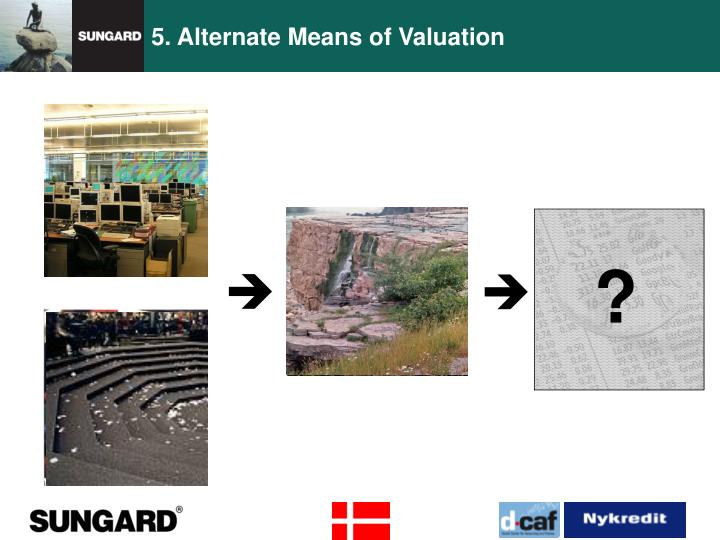 5. Alternate Means of Valuation