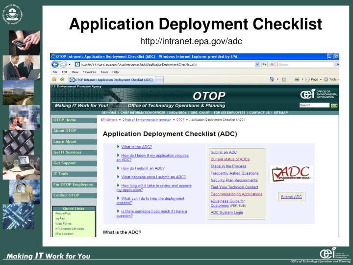 Application Deployment Checklist