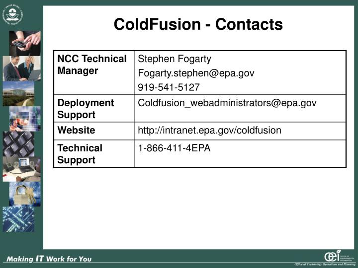 ColdFusion - Contacts