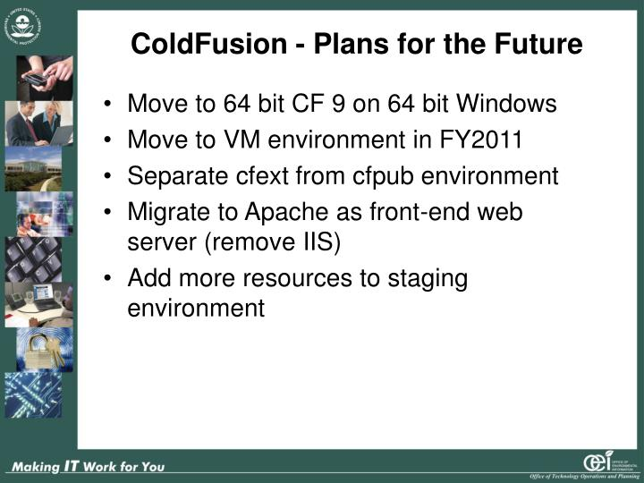 ColdFusion - Plans for the Future