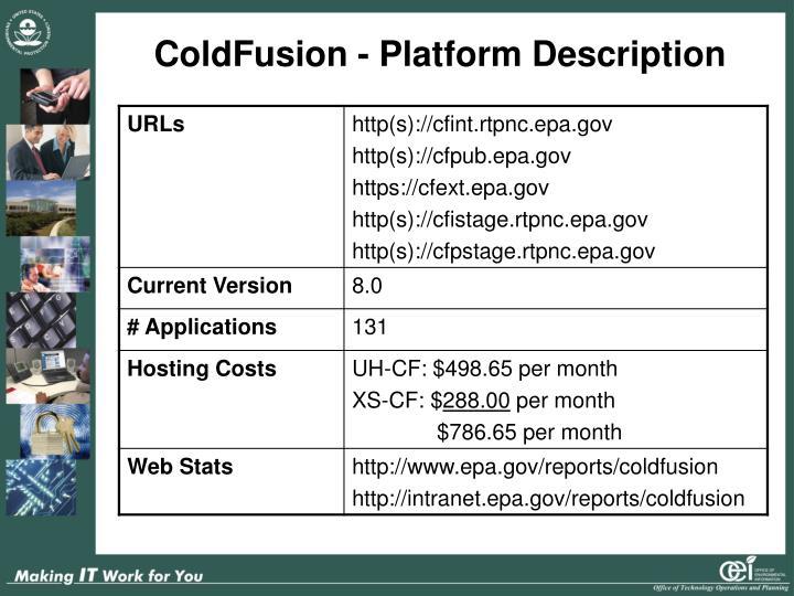 ColdFusion - Platform Description