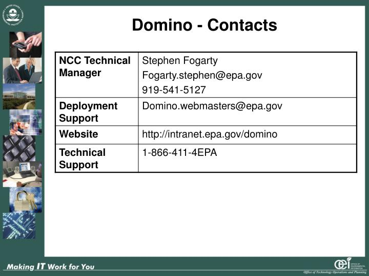 Domino - Contacts