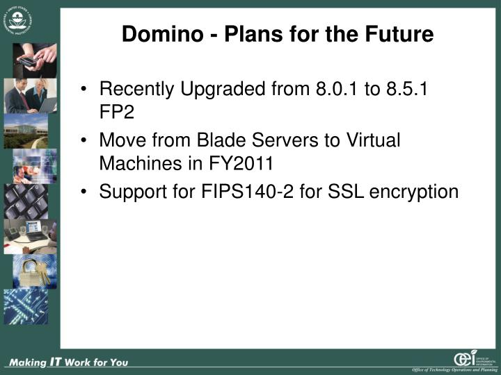 Domino - Plans for the Future