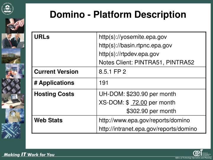 Domino - Platform Description