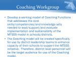 coaching workgroup