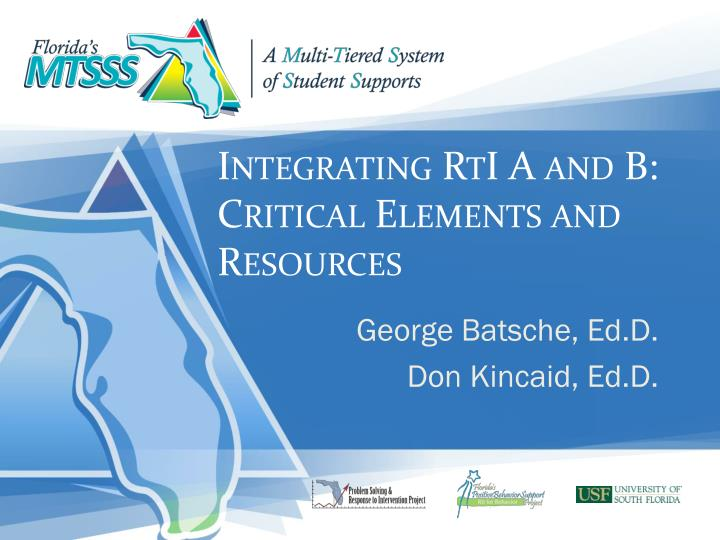 integrating rti a and b critical elements and resources