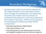 secondary workgroup