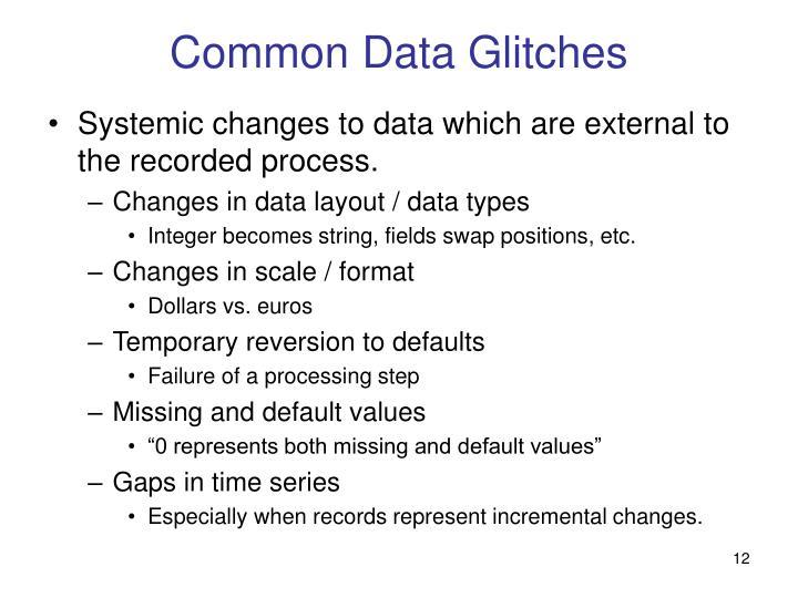 Common Data Glitches