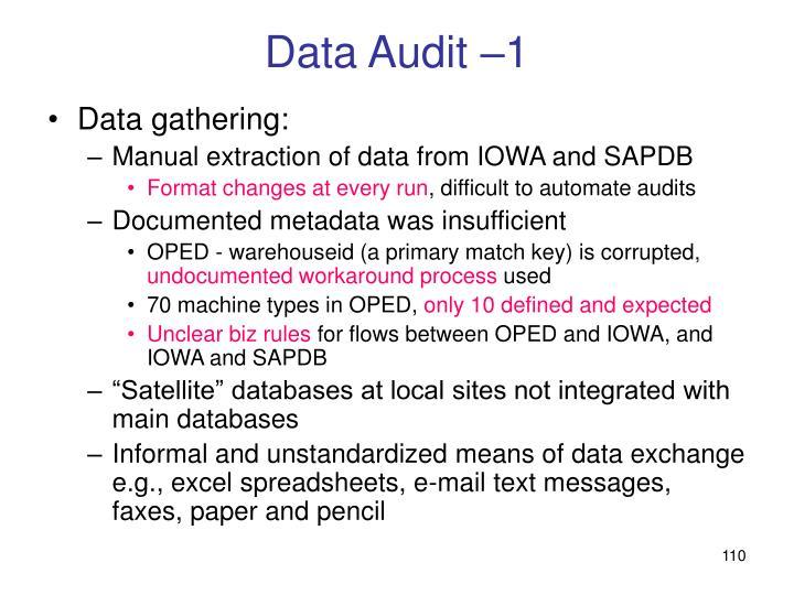 Data Audit –1