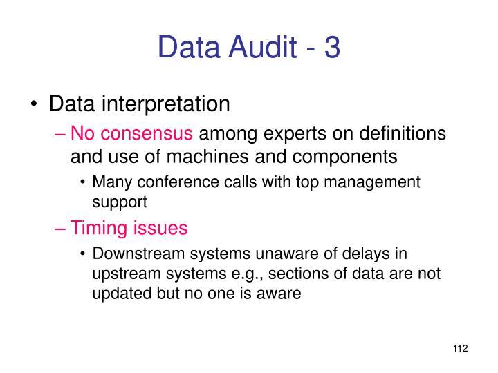 Data Audit - 3
