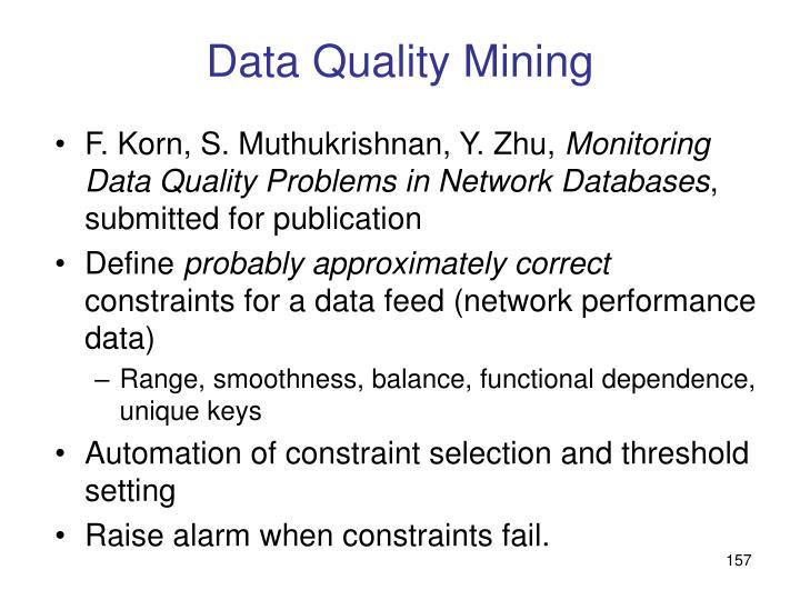Data Quality Mining