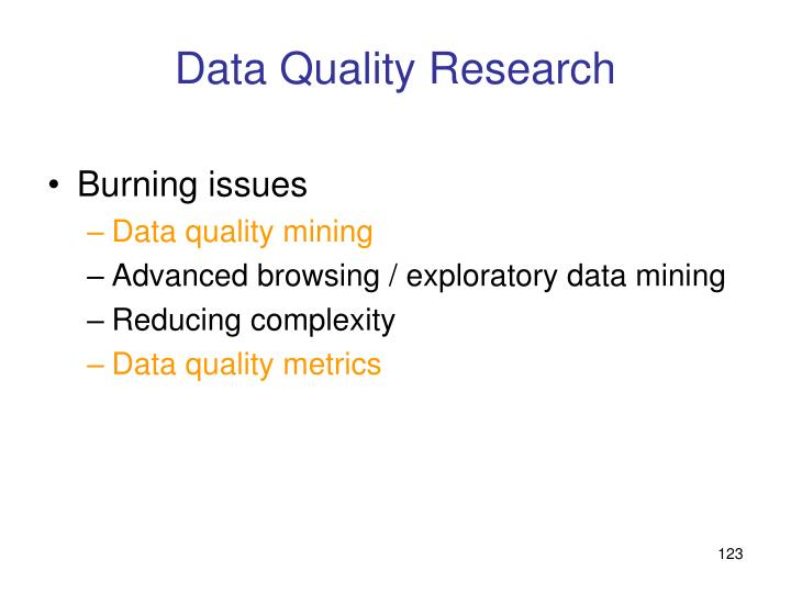 Data Quality Research