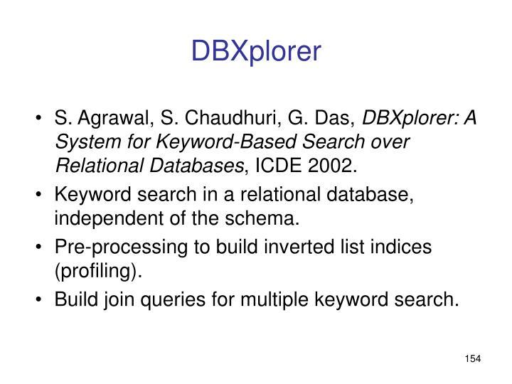 DBXplorer