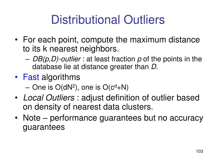 Distributional Outliers