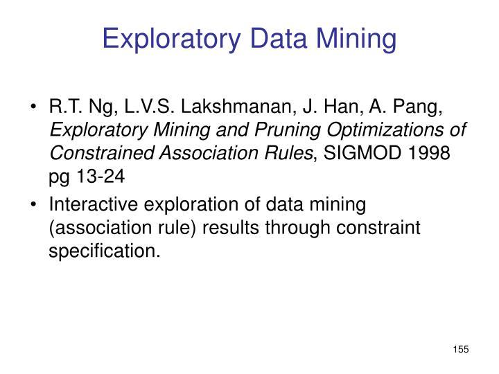 Exploratory Data Mining