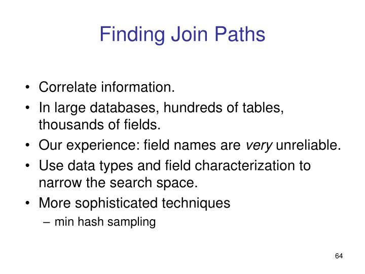 Finding Join Paths