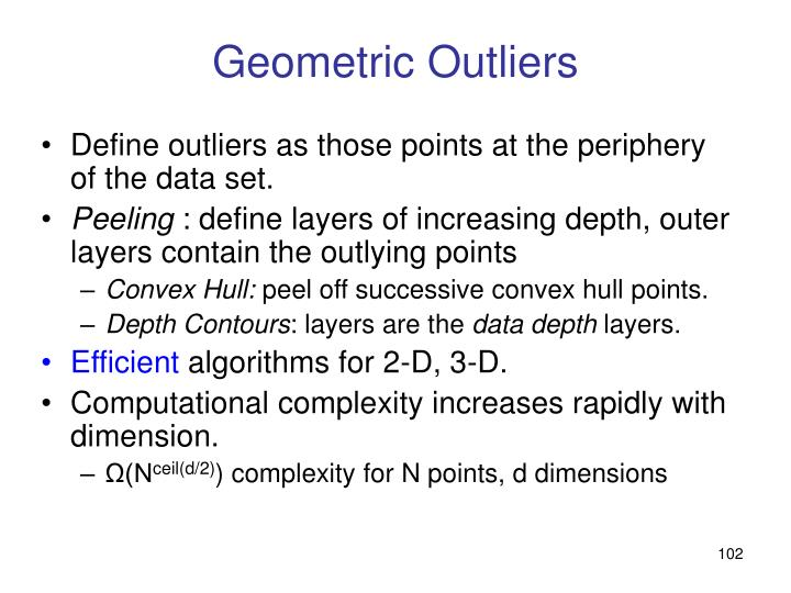 Geometric Outliers