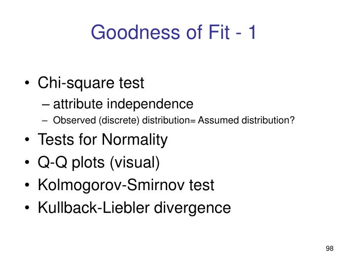 Goodness of Fit - 1