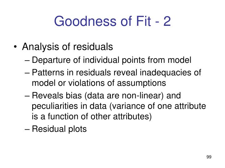 Goodness of Fit - 2