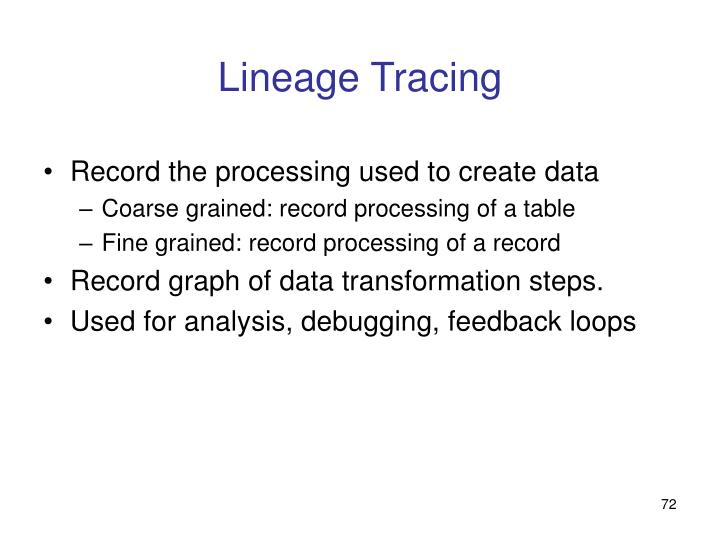 Lineage Tracing