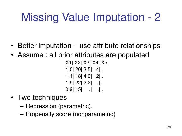 Missing Value Imputation - 2