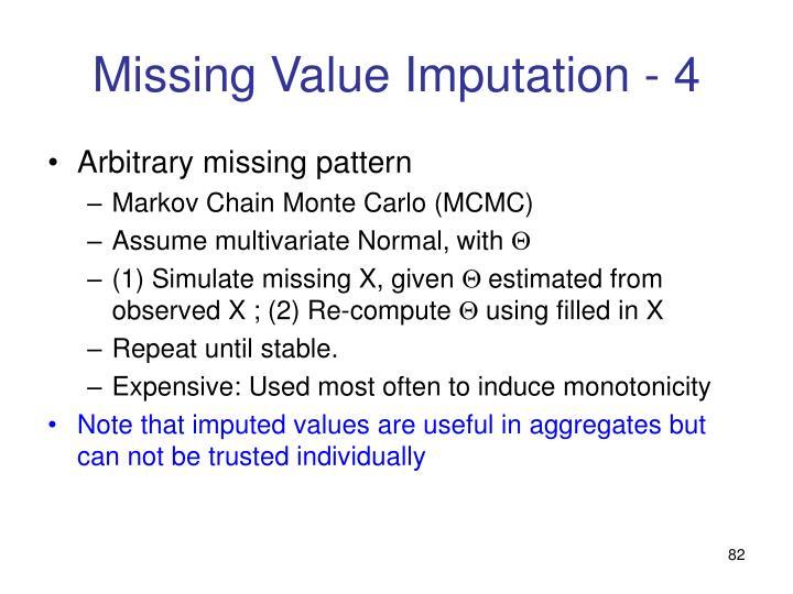Missing Value Imputation - 4