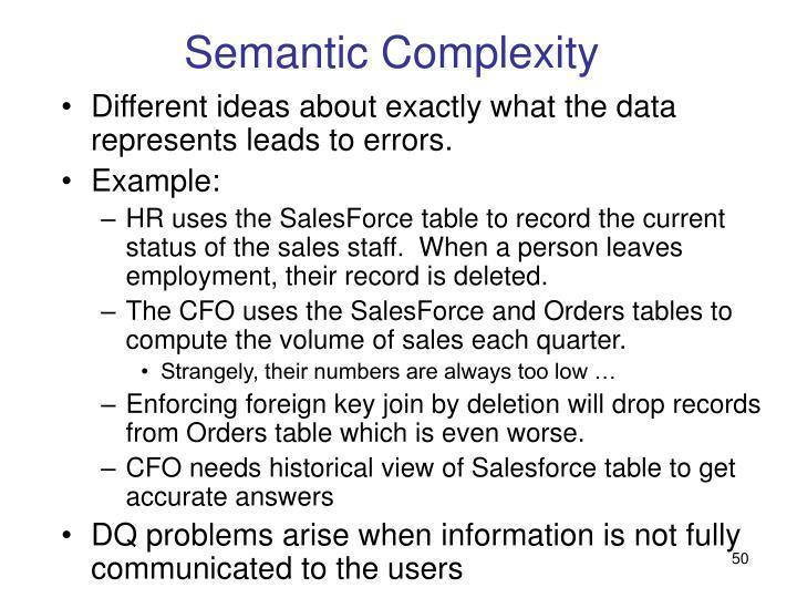 Semantic Complexity