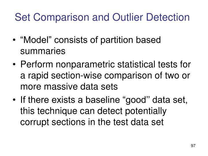 Set Comparison and Outlier Detection