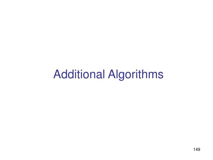 Additional Algorithms