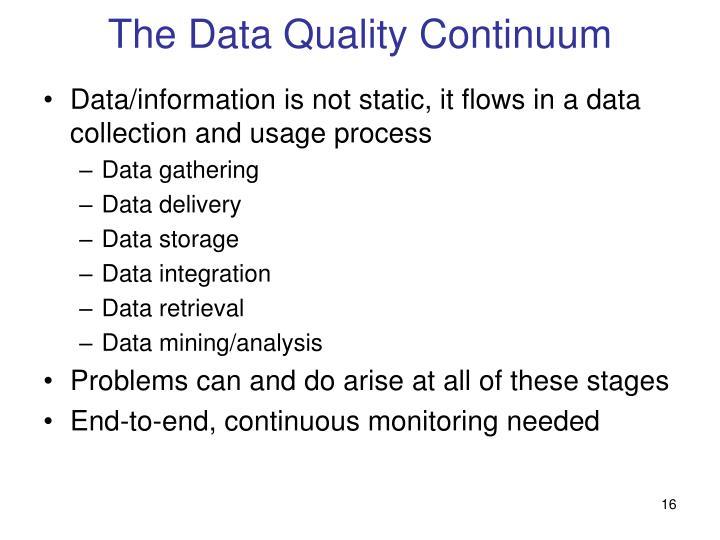 The Data Quality Continuum