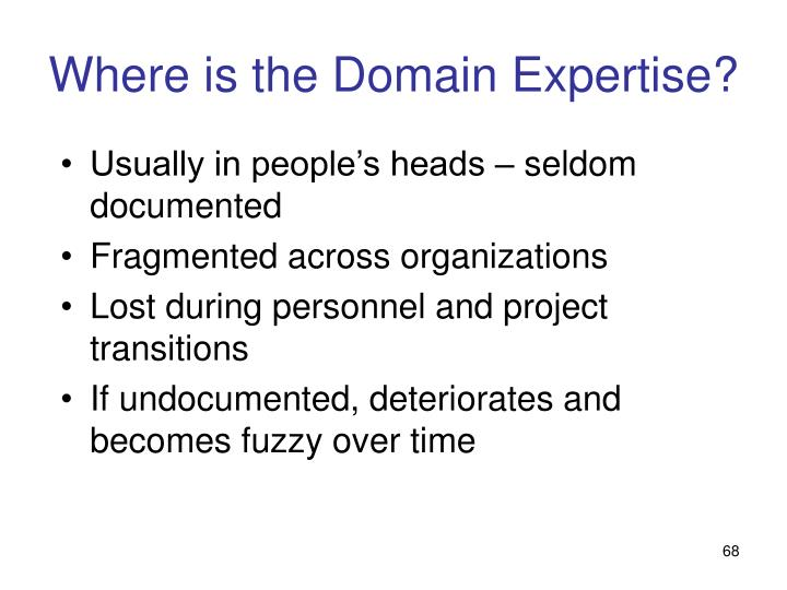 Where is the Domain Expertise?