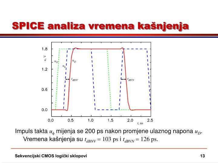 SPICE analiza vremena kašnjenja