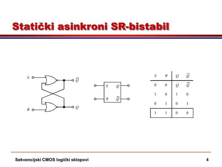 Statički asinkroni SR-bistabil