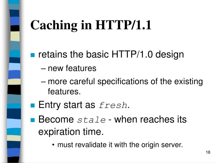 Caching in HTTP/1.1