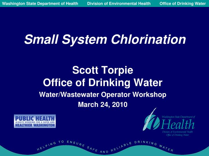 PPT Small System Chlorination PowerPoint Presentation ID