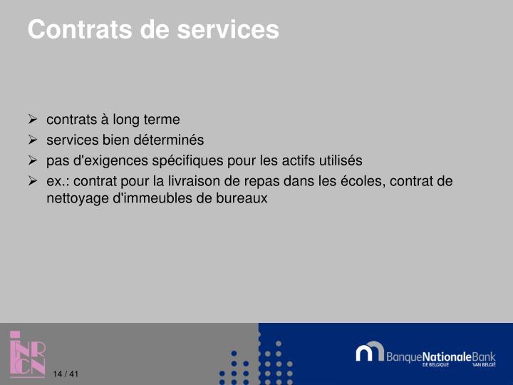 Contrats de services