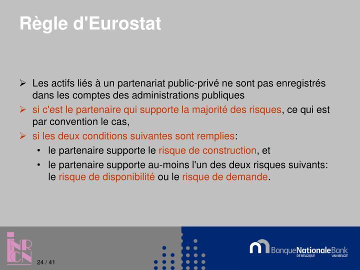 Règle d'Eurostat