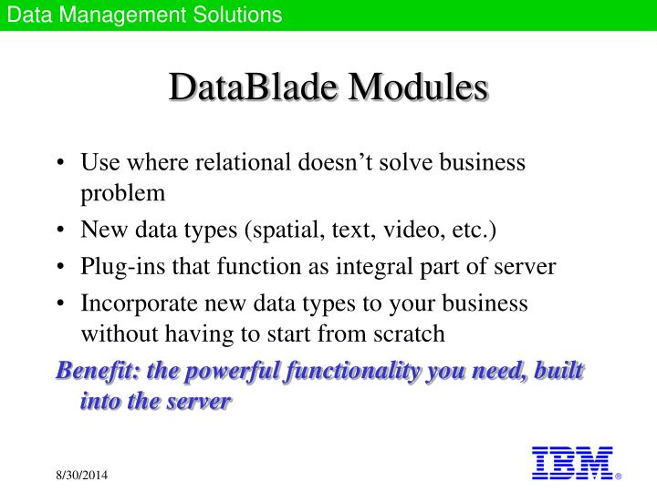 DataBlade Modules