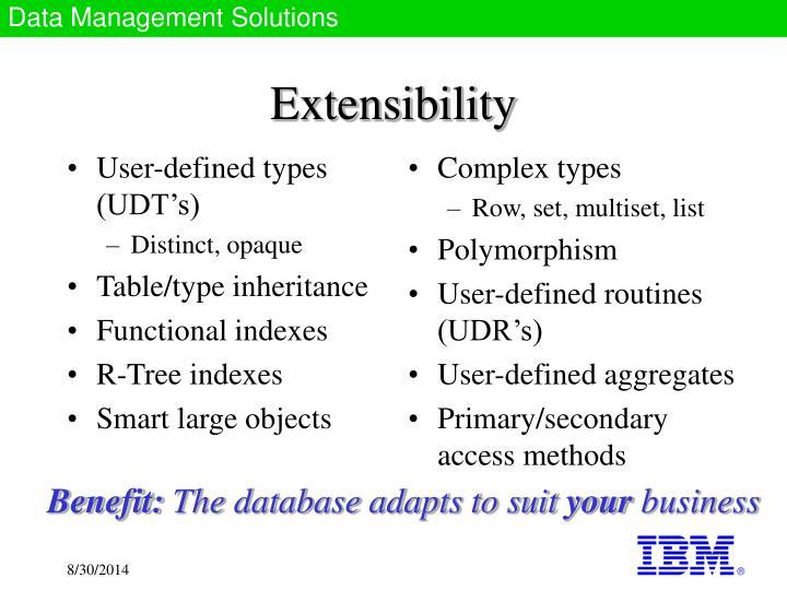 User-defined types (UDT's)